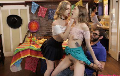 Секс втроем на празднике 13 фото