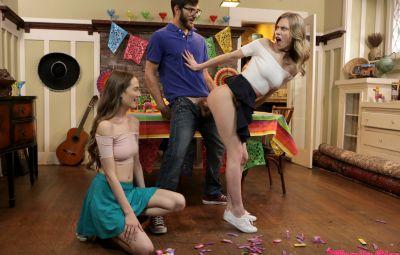 Секс втроем на празднике 8 фото