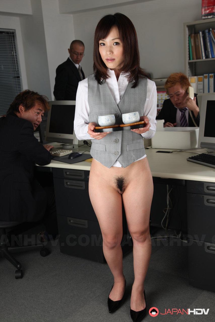 Japanese office naked — photo 4
